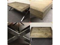 Industrial Coffee tables/bespoke/handmade/furniture/reclaimed/rustic/home