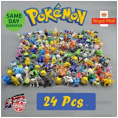 Pokemon 24 Figures Mini Pikachu Ash Master Pokeball Party Bag Filler UK Seller
