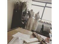 Pattern cutter, dressmaker, sample making