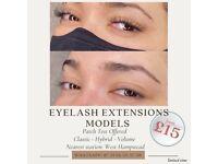 Eyelash extensions models