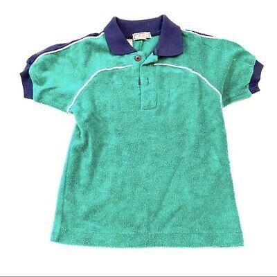 Boys Preppy Clothing (Vintage Retro Green Terry Cloth Boys Preppy Polo Kentfield)