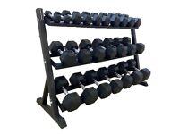 HEX DUMBELLS & Rack - 2.5kg - 30kg