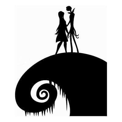 Jack skellington and Sally , Nightmare Before Christmas , Love , Wall decal home