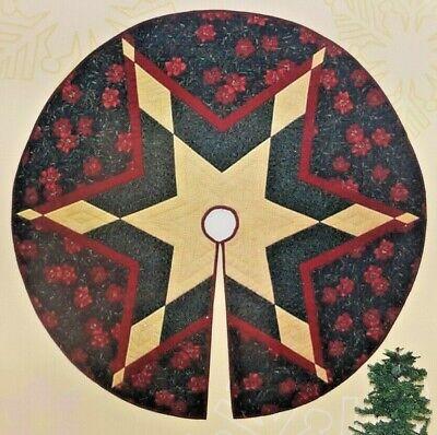 2002 NIP Christmas Tree Skirt Sewing Pattern Starflake 3 Sizes 36-48-60 7955F