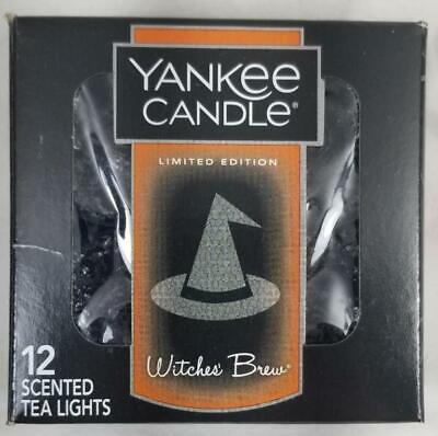 Yankee Candle WITCHES BREW Box of 12 Scented Tealights Tea Light Black