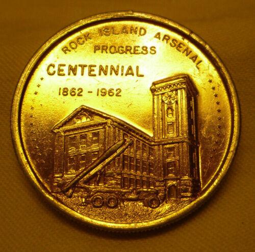 Vintage Rock Island Arsenal Centennial Token 1862-1962 IL Illinois Souvenir