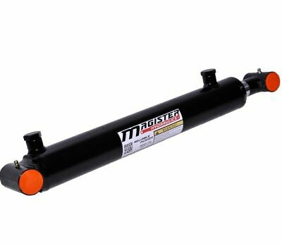 Hydraulic Cylinder Welded Double Acting 1.5 Bore 24 Stroke Cross Tube 1.5x24