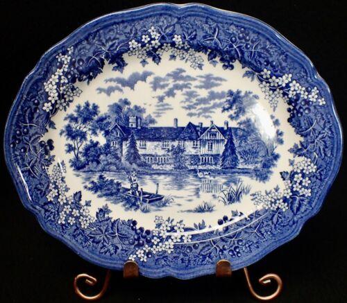 "J&G Meakin Merrie England Kent 14th. Century Ightham Mote Serving Platter 12"""