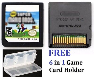 New Super Mario Bros. (Nintendo DS, 2006) 6 in 1 Game Card Holder, FREE ()