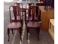 ** OLD BENTWOOD FISCHEL CHAIRS - 4 FOR £40 **