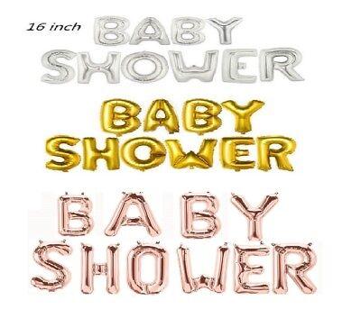 Rotgold,Silber Geschlecht Bekanntgeben 40.6cm Folienballons 'Baby Dusche' Banner