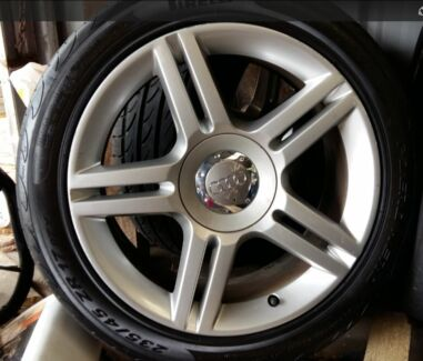 """Audi A4 B7 17"""" S-LINE Quattro Wheels and tyres. Tarragindi Brisbane South West Preview"""