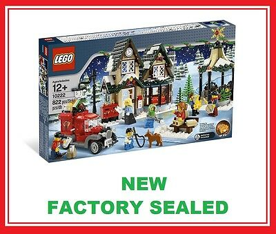 Lego Creator Christmas Winter Village City Post Office Set 10222 New 7 Minifig