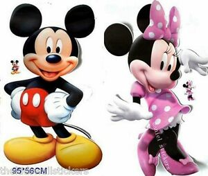 2 X Disney Mickey Minnie Mouse Clubhouse Wall Sticker Home Decor Art GIANT 33