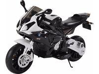 BMW S1000RR Licensed 12v Kids Electric Battery Ride On Motorbike - Black - RIDE04