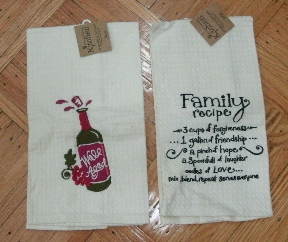 Kay Dee Designs Well Aged Waffle Towel One Size White