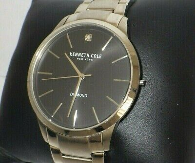 Kenneth Cole KC15111014 Diamond Accent Stainless Steel Watch / Missing Crown ()