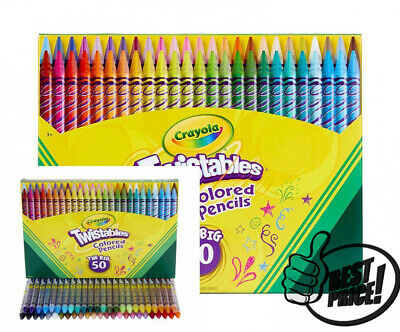 Twistables Colored Pencils (Crayola Twistables Colored Pencils, 50 Count, Gift Toy - No Sharpening!)