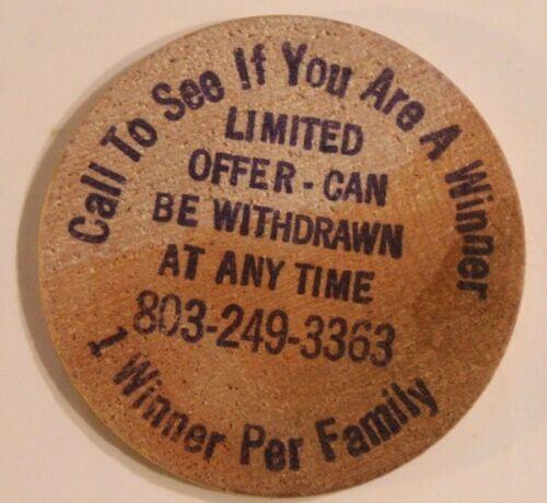 Vintage Interval Ownership Sales Wooden Nickel South Carolina