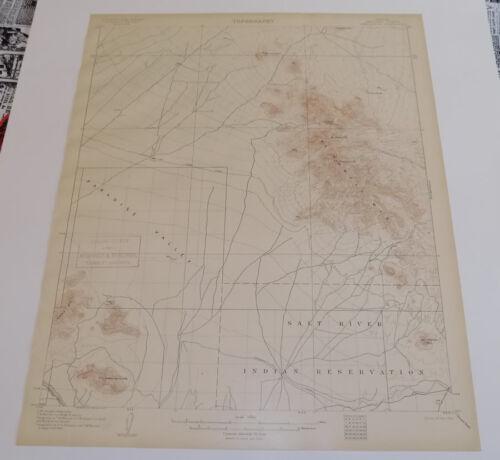 1906 Topographic Map of CAMELSBACK QUADRANGLE, ARIZONA