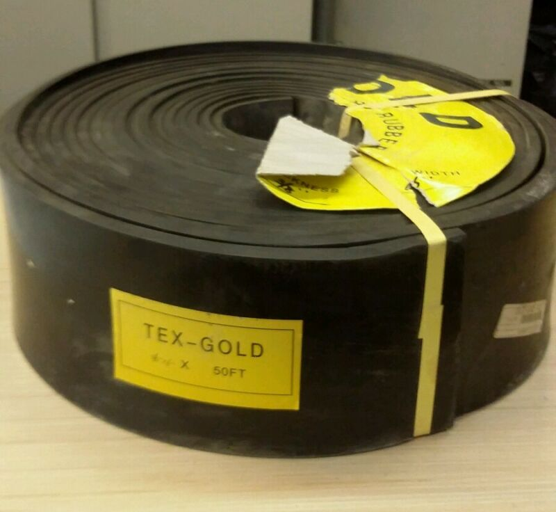 "Skirting 6""x3/8"" Tex-Gold Duromaster 50FT Conveyor"