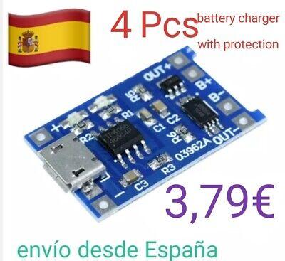 Módulo cargador baterias Litio Protección Micro USB TP4056 Charger Li-Ion segunda mano  España