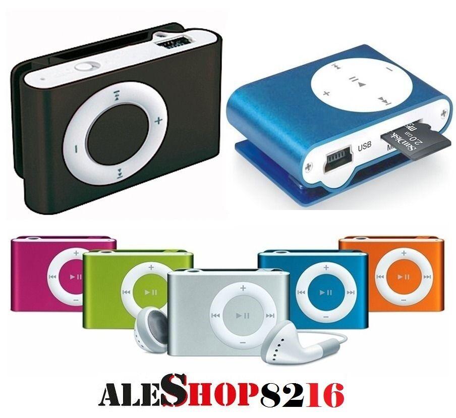 LETTORE MP3 IPOD NANO STYLE IDEA REGALO CUFFIE MEMORIA FINO A 2,4,8,16,32GB