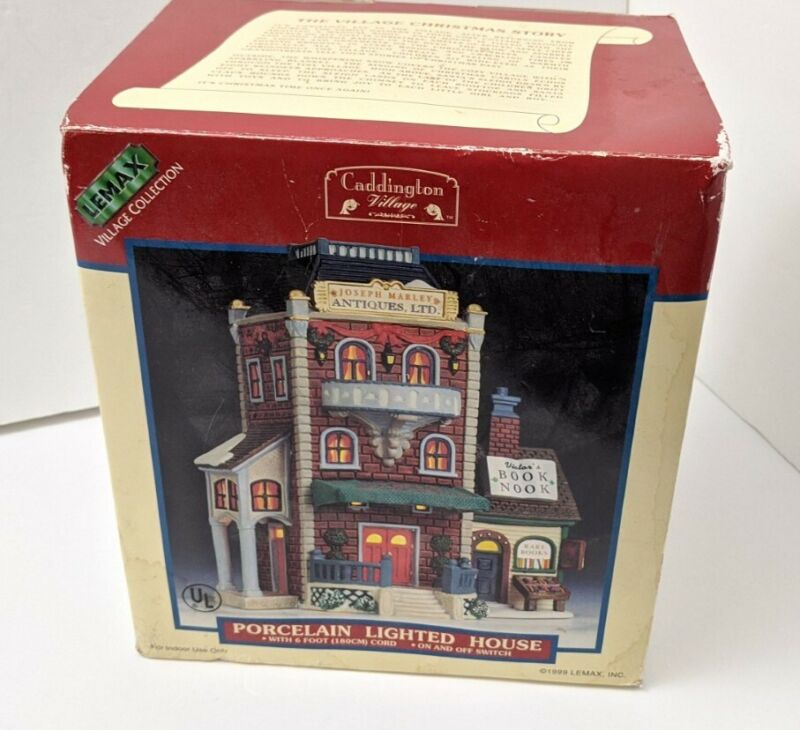LEMAX Caddington Village Joseph Marley Antiques Lighted House