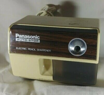 Vintage Panasonic Auto-stop Electric Pencil Sharpener Kp-110 Tested Working