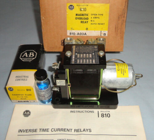 Allen Bradley 810-A03A Magnetic Overload Relay 810A03A Time Current Relay NEW