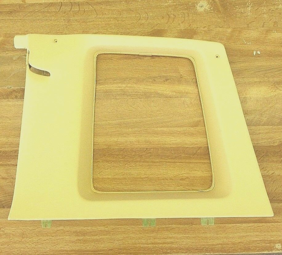 1978-79 CADILLAC COUPE DEVILLE RH REAR INTERIOR WINDOW FRAME TRIM LT YELLOW