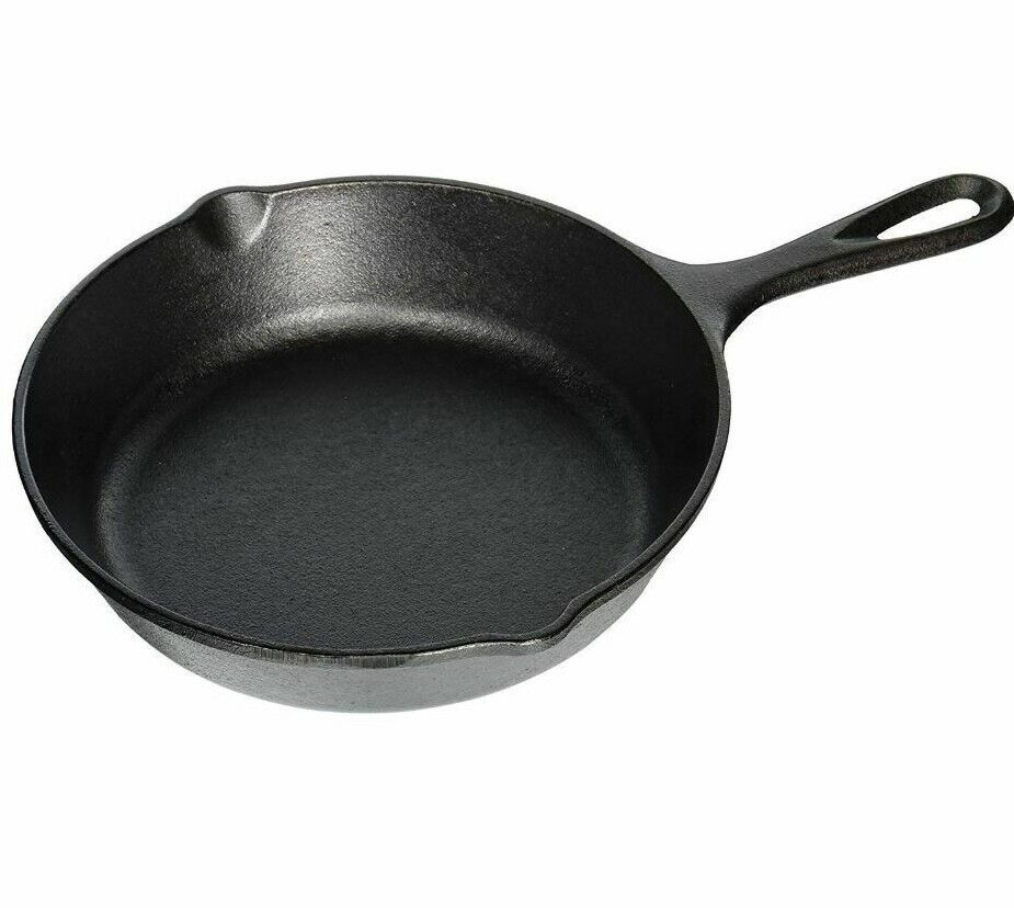 Lodge Pre-Seasoned 8 inch Cast Iron Skillet with Assist Hand
