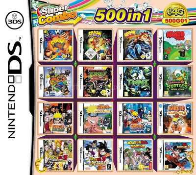 500in1 Game Games Cartridge Multicart For DS NDS NDSL NDSi 2DS 3DS...