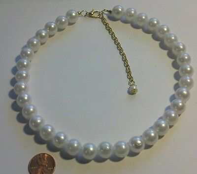 (Pearl Necklace White 16