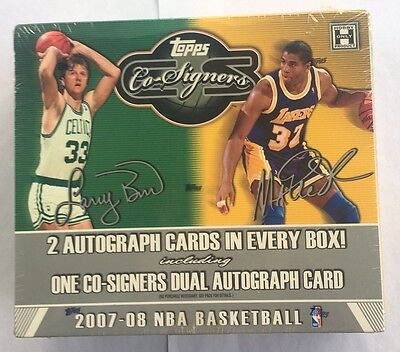 2007 Topps Co Signers Hobby (2007-08 Topps Co Signers Basketball Sealed Hobby Box Kevin Durant RC HTF )