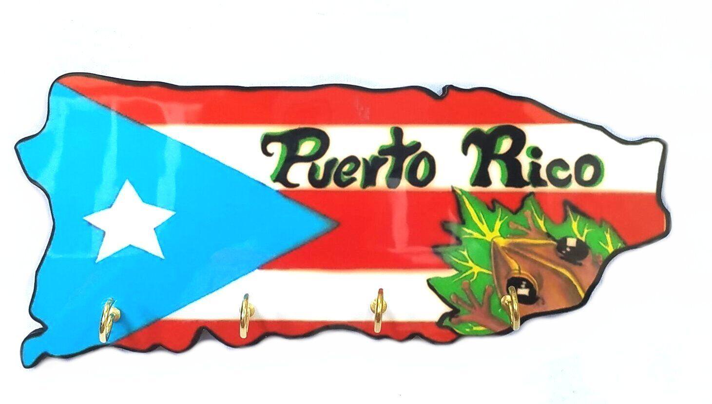 Boricua  Rican #3 Puerto Rico Home Decorative Souvenirs Keychain Wall Holder
