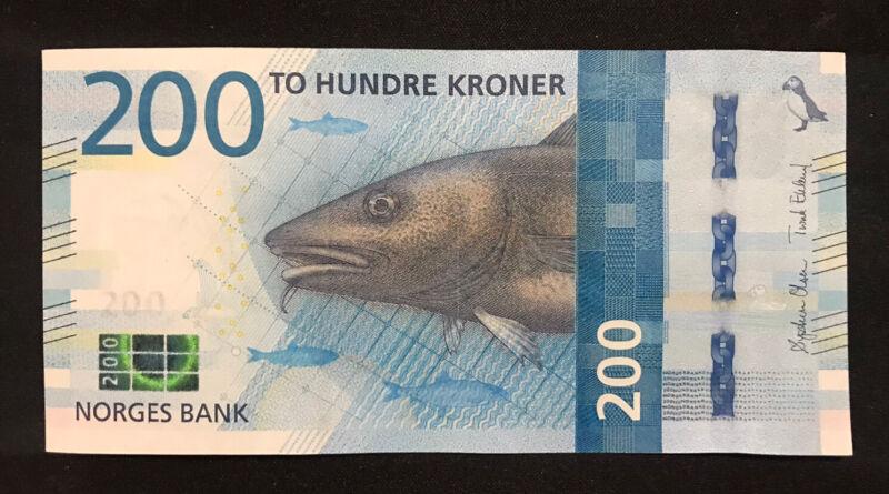 200 Norway Kroner Banknote, aUNC, 2016 Series