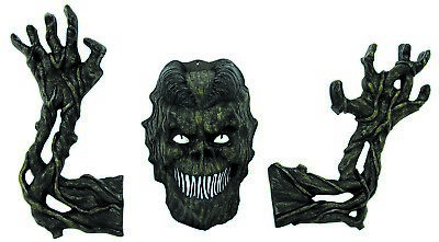 Tree Monster Decoration Scary Halloween Haunted Tree Prop Decor Arms & Face](Haunted Tree Face)