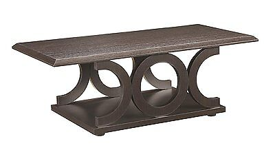 $98.26 - Coaster Home Furnishings 703148 Casual Coffee Table, Cappuccino NEW