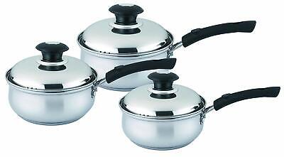 6 Pcs High Quality Stainless Steel Saucepan Set with Glass Lid,Dishwasher Safe Dishwasher Safe Steel Sauce Pan