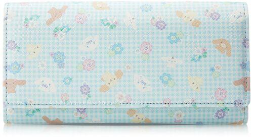 New! Cinnamoroll Long Wallet Logo blue Kawaii Sanrio f/s from Japan CR-061