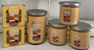 Yankee Candle Honey Crisp Apple Cider Fall Lot of 6