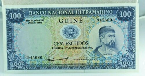 Portuguese Guinea - Banco Nacional Ultramarino, 100 Escudos, 1971, XF-AU. P-45a