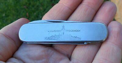 Old Vintage IMP Pocketknife Pocket Knife Advertising STADSHUSET STOCKHOLM Sweden