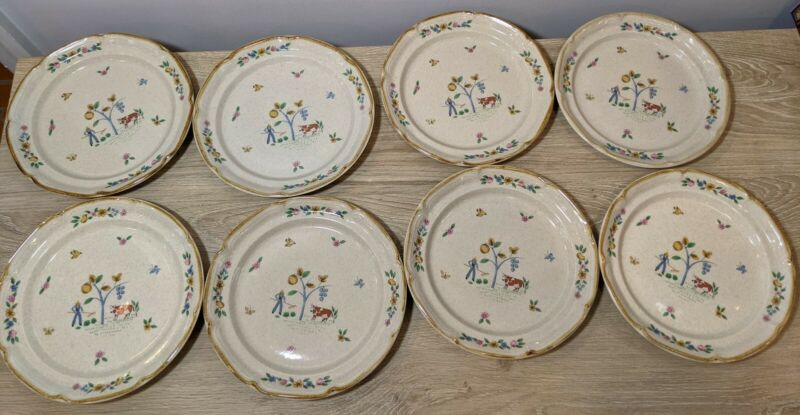 International China Heartland ~ Set of 8 Salad / Dessert Plates  #7774