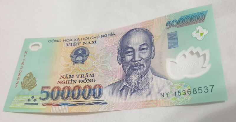 **BRAND NEW*  500,000 VIETNAMESE DONG VND Banknote Uncirculated- UNFOLDED* CRISP