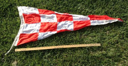 "Used USCG or USN Regulation 22"" x 48"" Signal Pennant Flag - EMERGENCY"