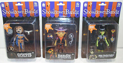 Phatmojo SHOWDOWN BANDIT ACTION FIGURE LOT Grieves / Bandit / Undertaker SEALED for sale  Shipping to India