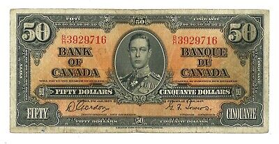 1937 - $50 Bank of Canada - Gordon/Towers