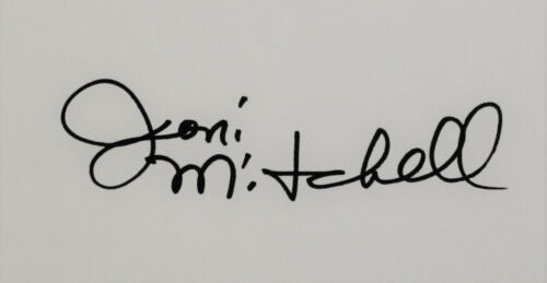 Joni Mitchell hand signed book, Morning Glory On The Vine